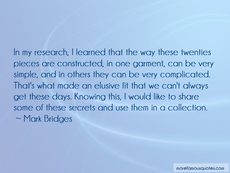 Mark Bridges Quotes Pictures 2
