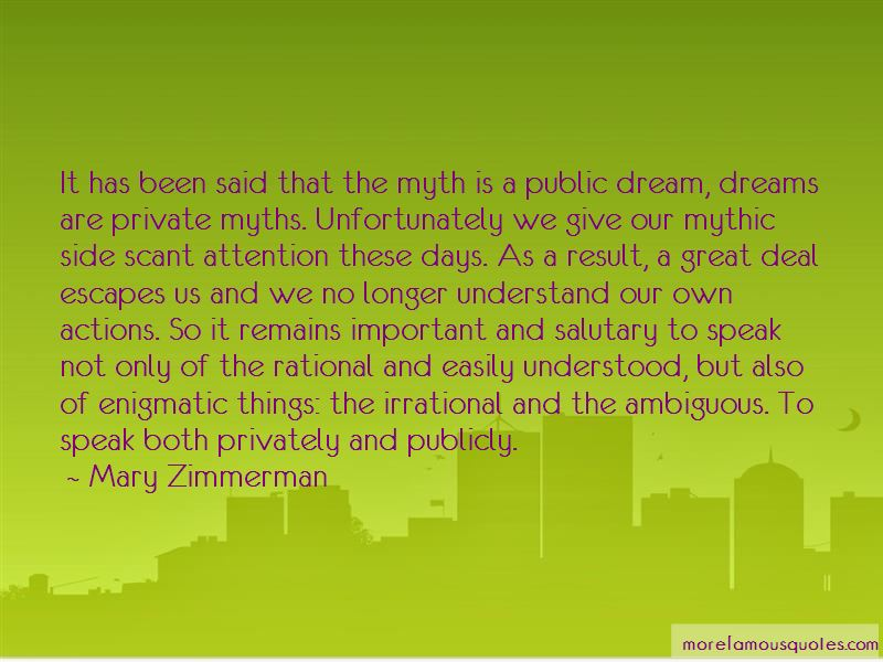 Mary Zimmerman Quotes Pictures 3