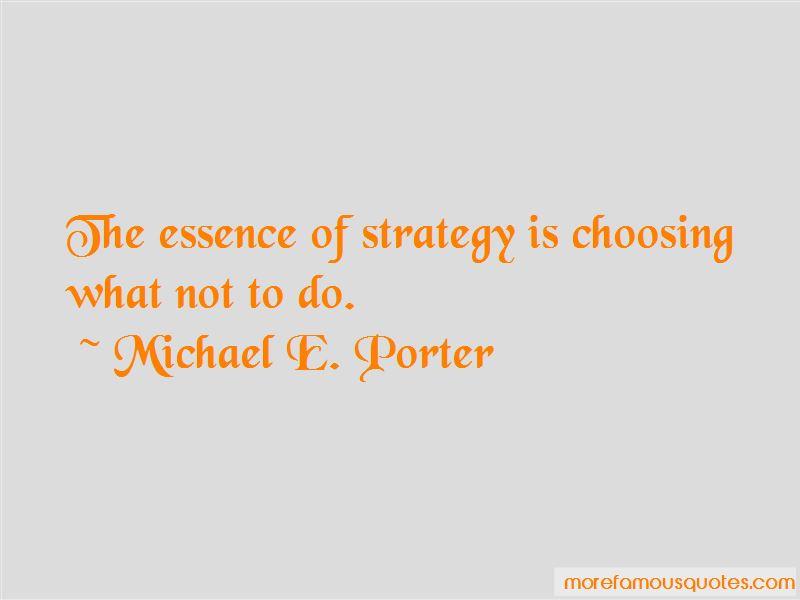 Michael E. Porter Quotes