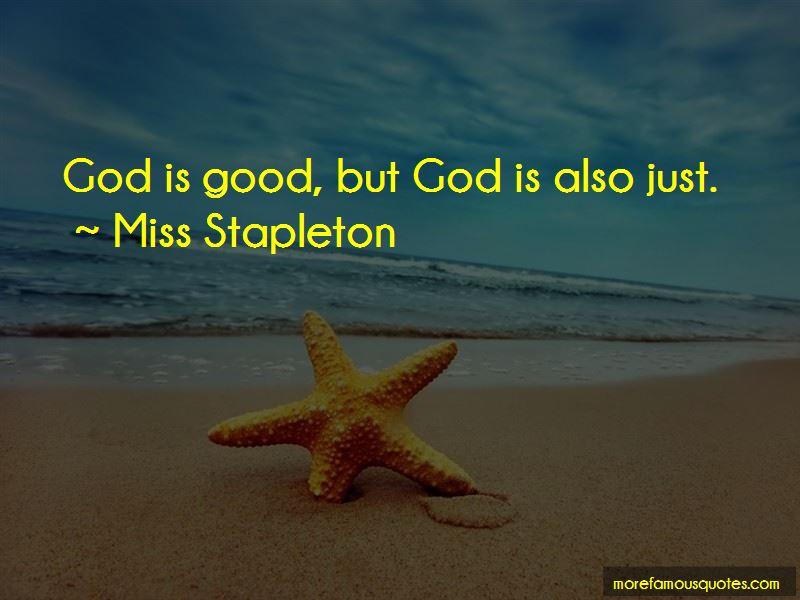 Miss Stapleton Quotes