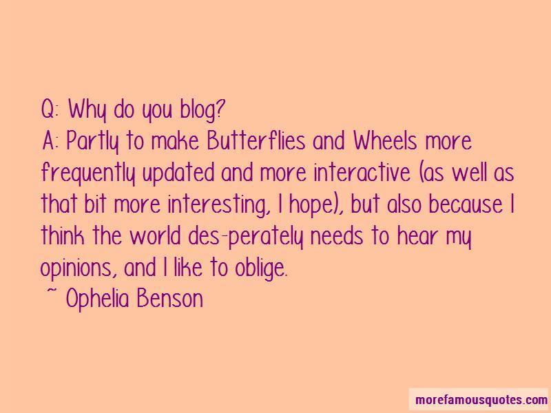 Ophelia Benson Quotes