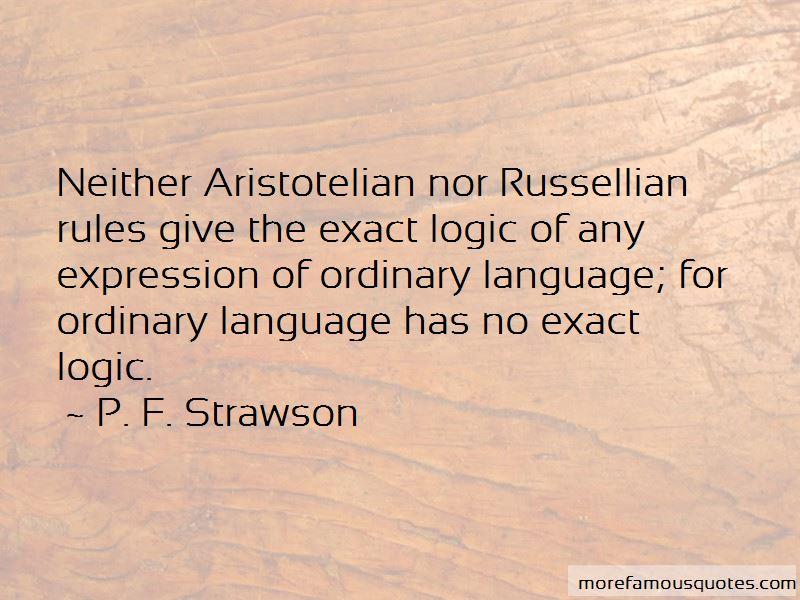 P. F. Strawson Quotes