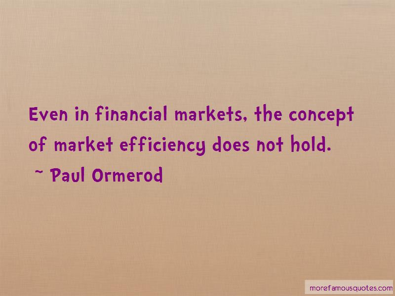 Paul Ormerod Quotes Pictures 2