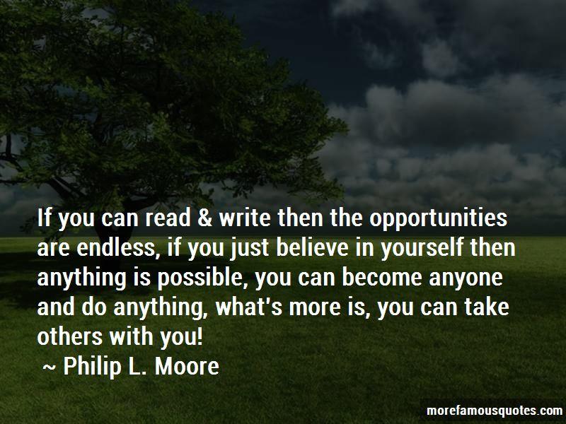 Philip L. Moore Quotes