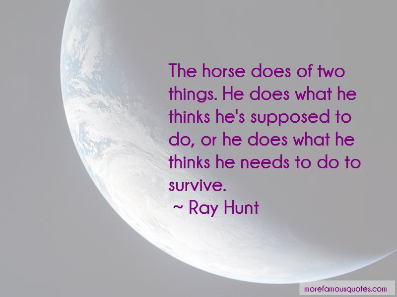 Ray Hunt Quotes