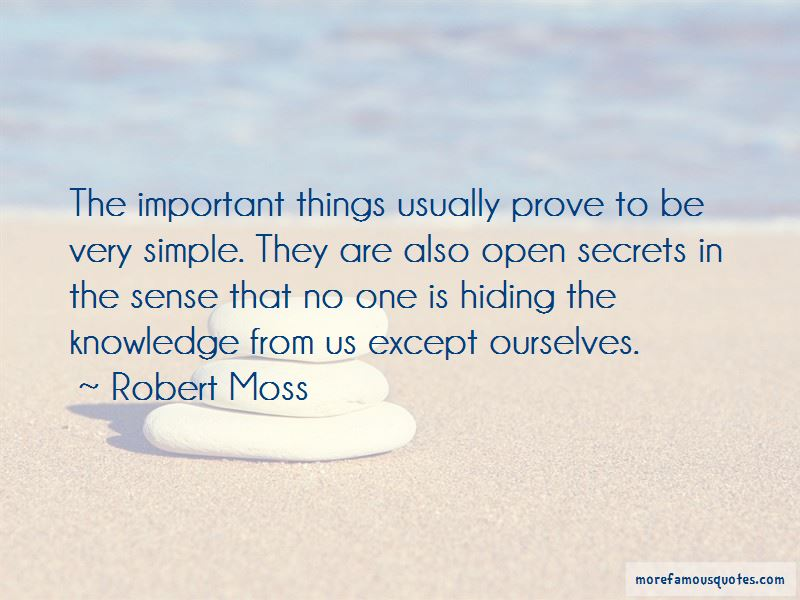Robert Moss Quotes