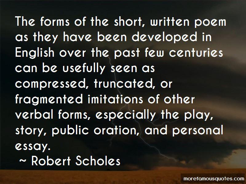 Robert Scholes Quotes
