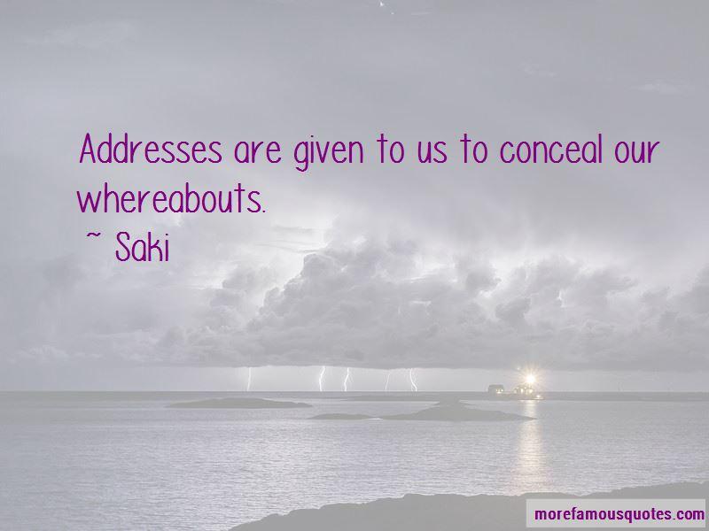 Saki Quotes