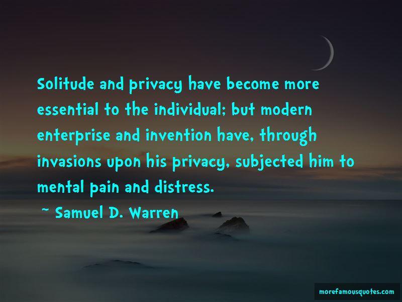Samuel D. Warren Quotes