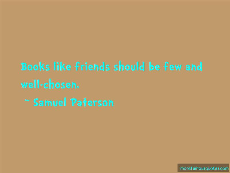 Samuel Paterson Quotes