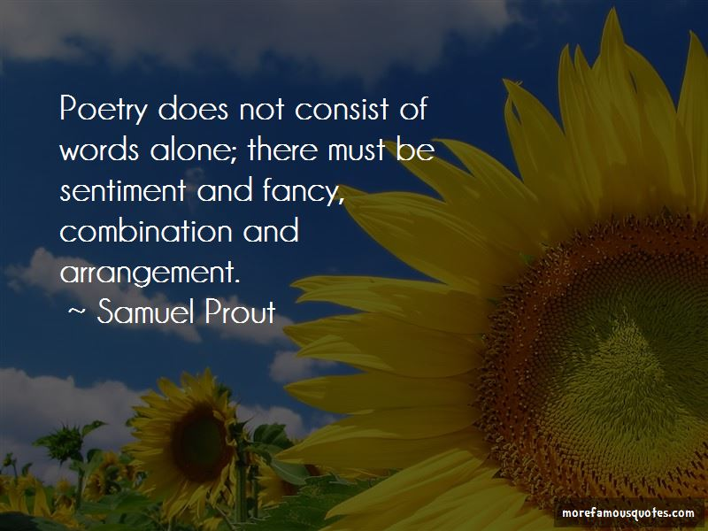 Samuel Prout Quotes