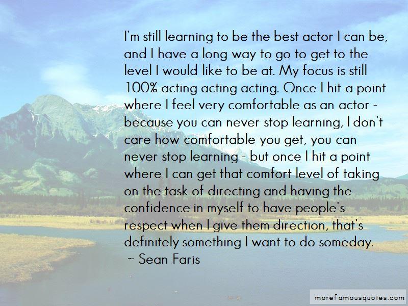 Sean Faris Quotes