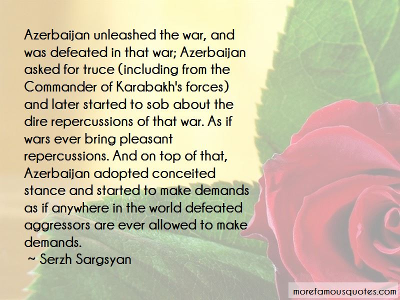 Serzh Sargsyan Quotes