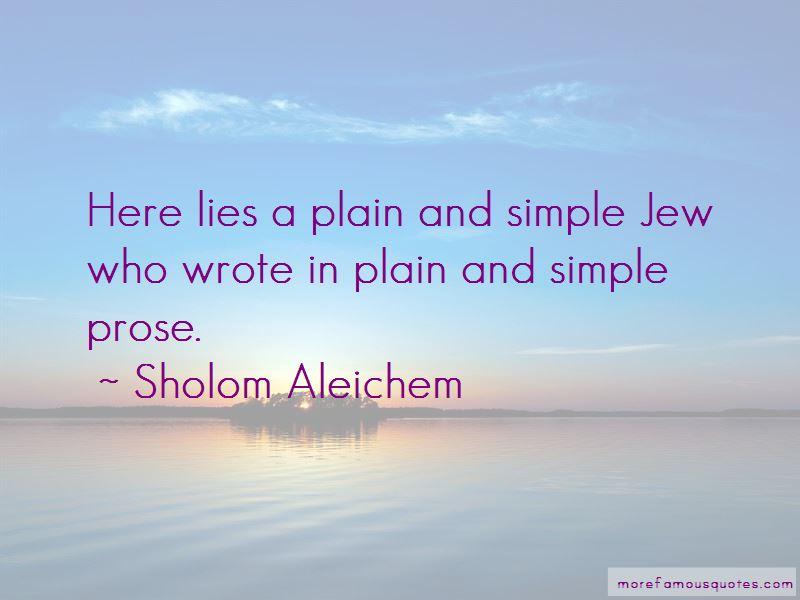 Sholom Aleichem Quotes
