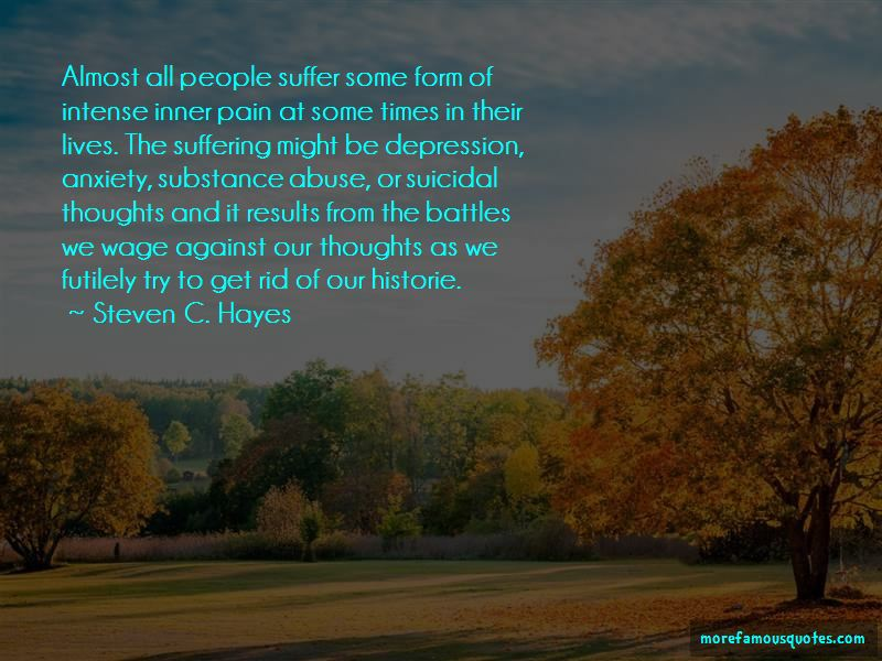 Steven C. Hayes Quotes
