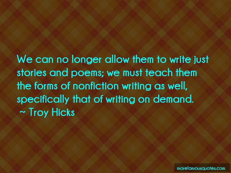 Troy Hicks Quotes Pictures 2
