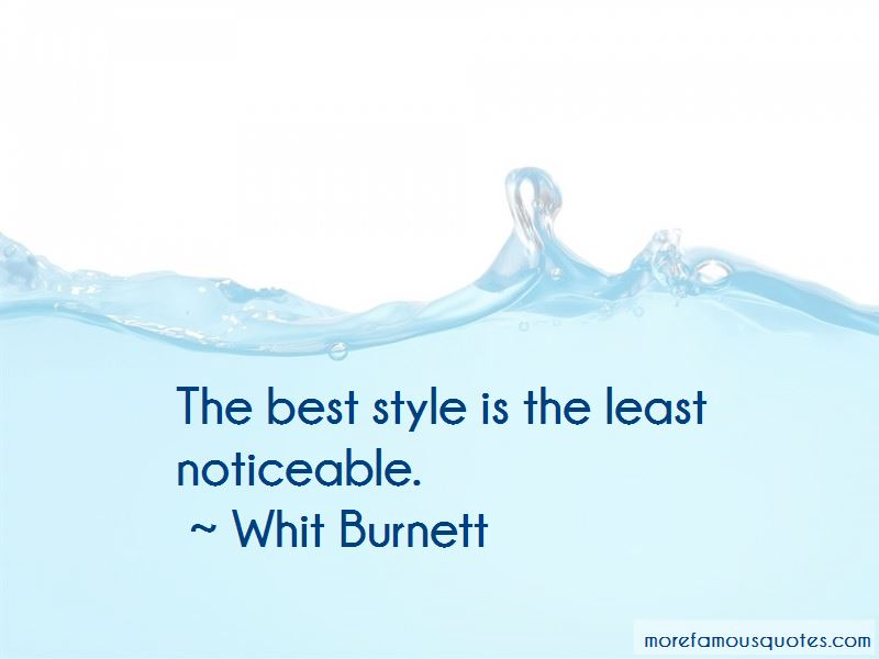 Whit Burnett Quotes Pictures 2