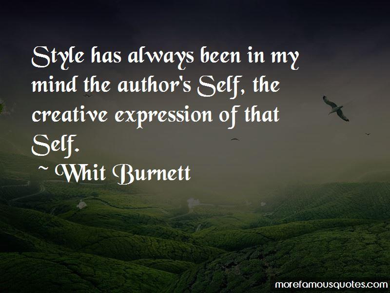 Whit Burnett Quotes