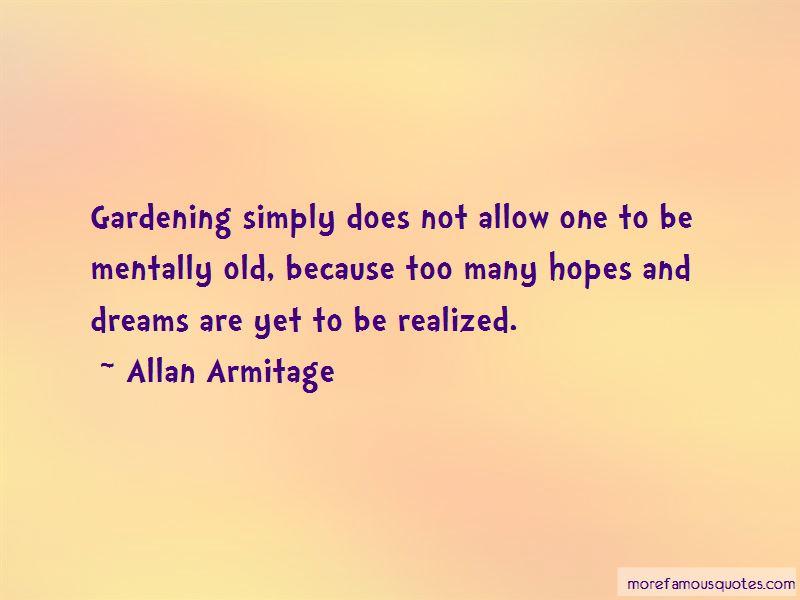 Allan Armitage Quotes