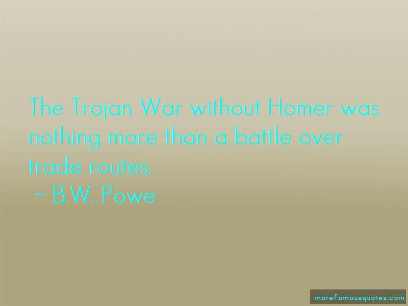 B.W. Powe Quotes