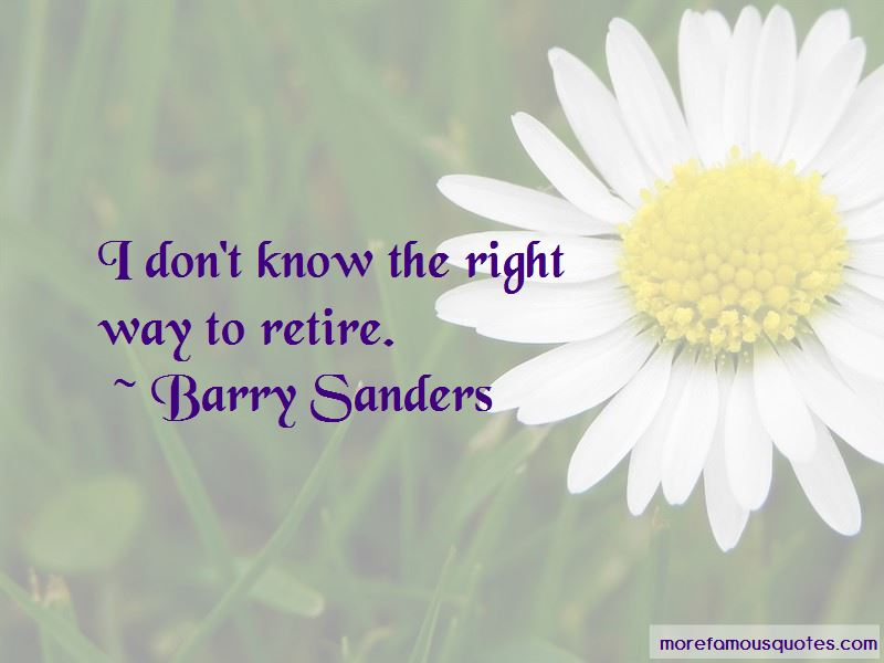 Barry Sanders Quotes Pictures 2