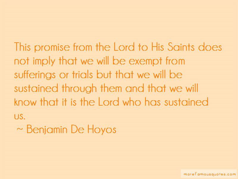 Benjamin De Hoyos Quotes Pictures 4