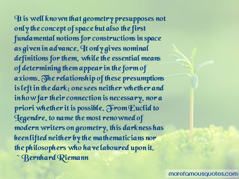 Bernhard Riemann Quotes