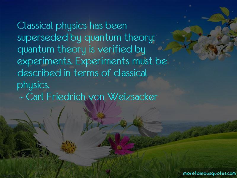 Carl Friedrich Von Weizsacker Quotes