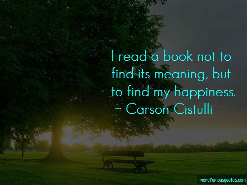 Carson Cistulli Quotes