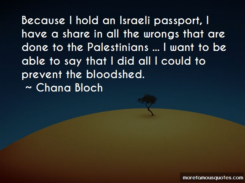 Chana Bloch Quotes