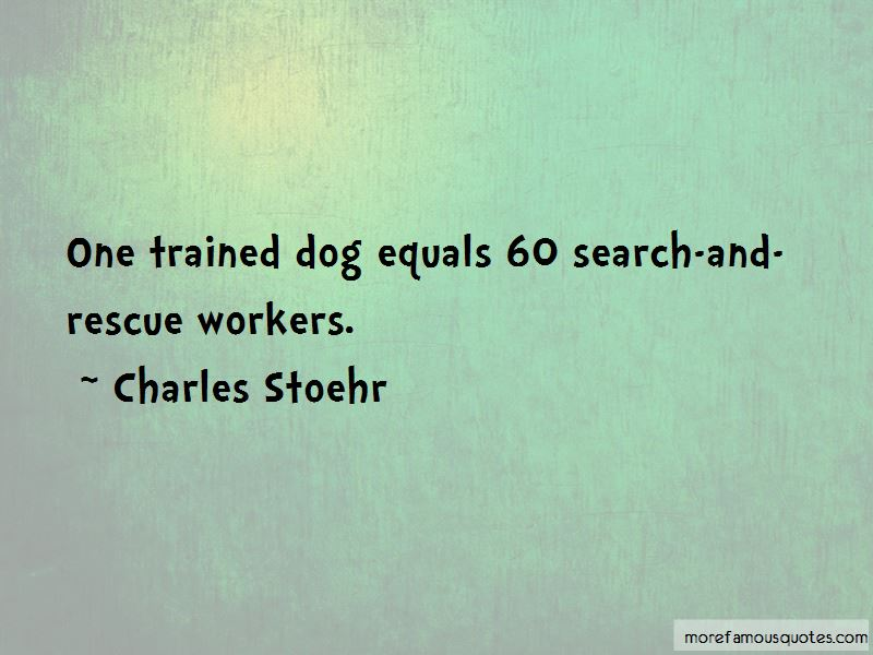 Charles Stoehr Quotes