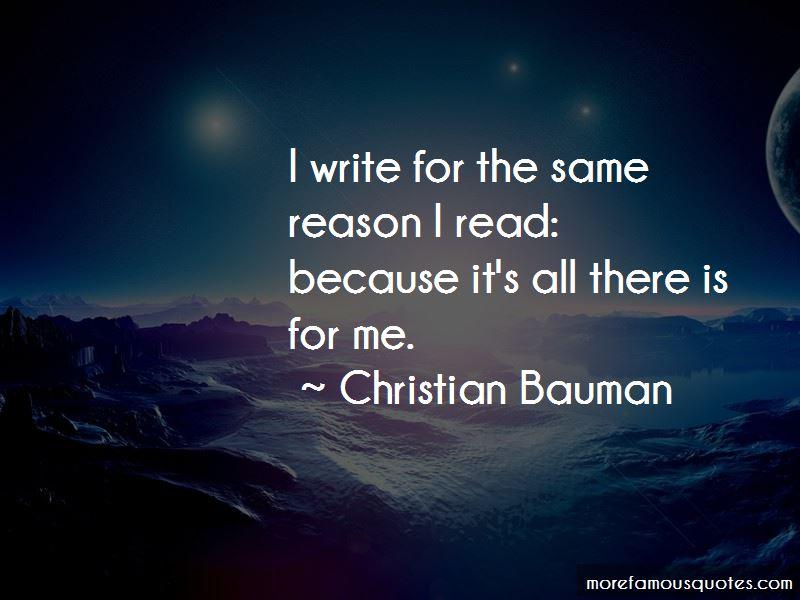 Christian Bauman Quotes