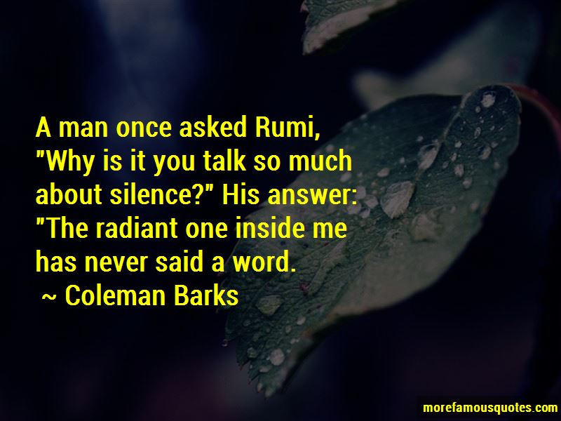 Coleman Barks Quotes Pictures 3