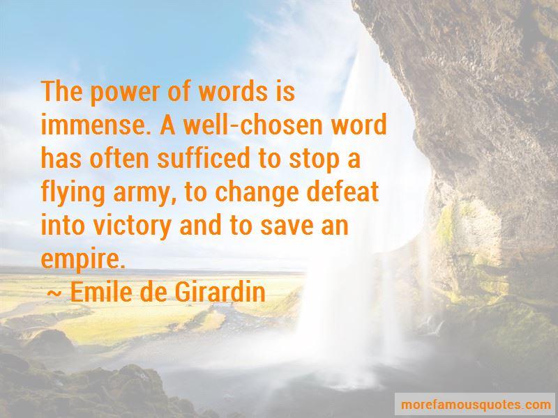 Emile De Girardin Quotes