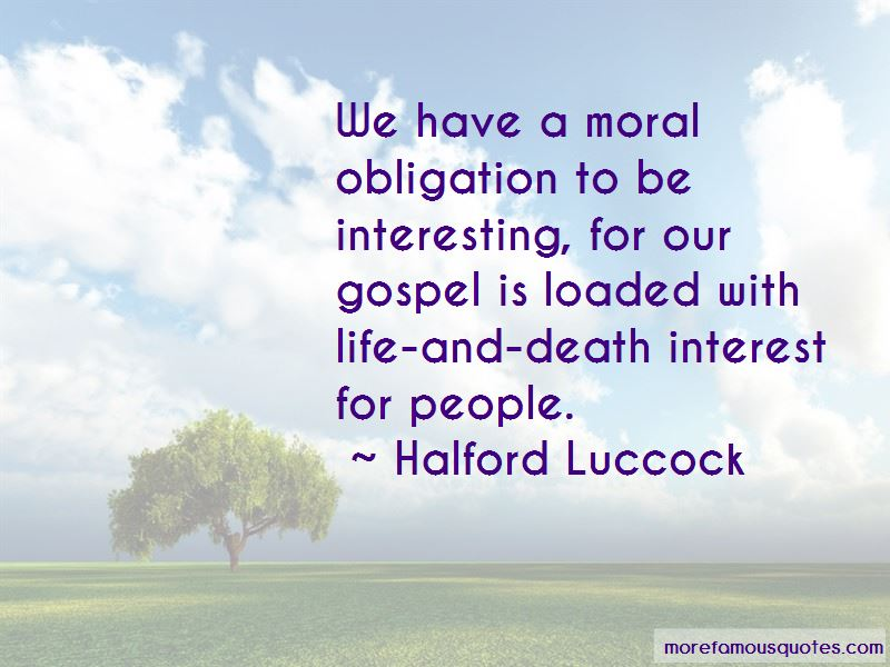 Halford Luccock Quotes