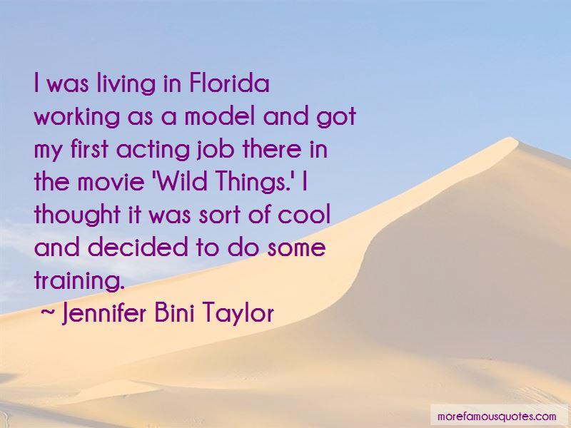 Bini taylor wild things jennifer Jennifer Taylor