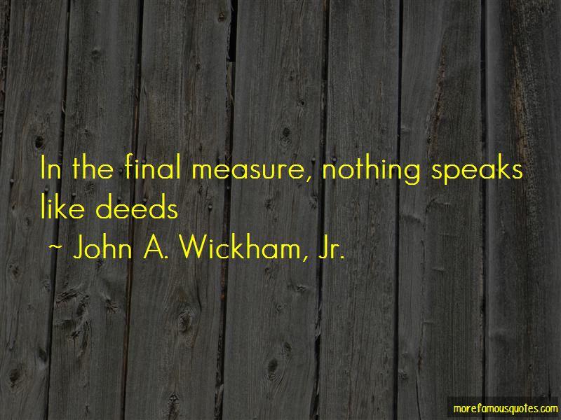 John A. Wickham, Jr. Quotes