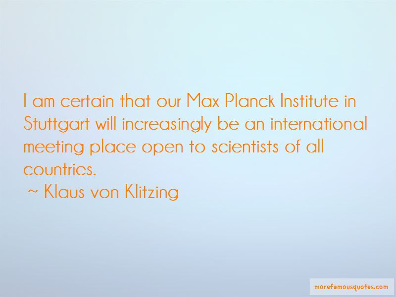Klaus Von Klitzing Quotes Pictures 2