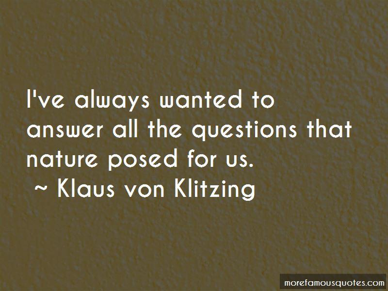 Klaus Von Klitzing Quotes