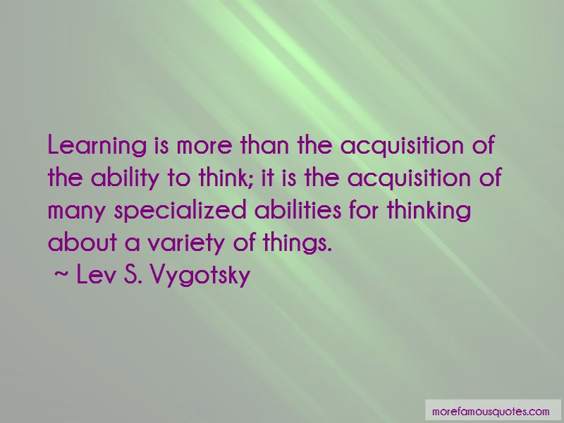 Lev S. Vygotsky Quotes