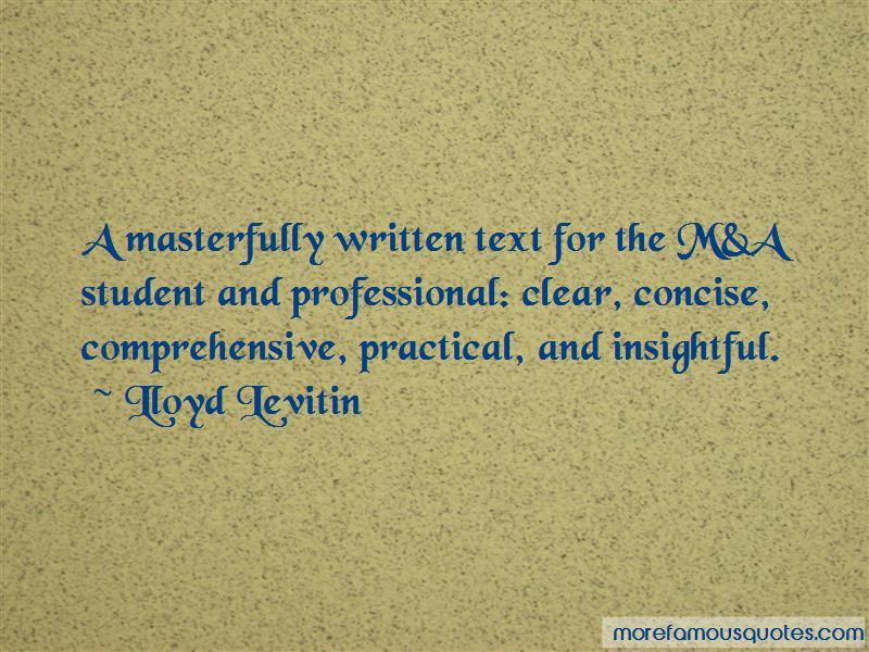 Lloyd Levitin Quotes