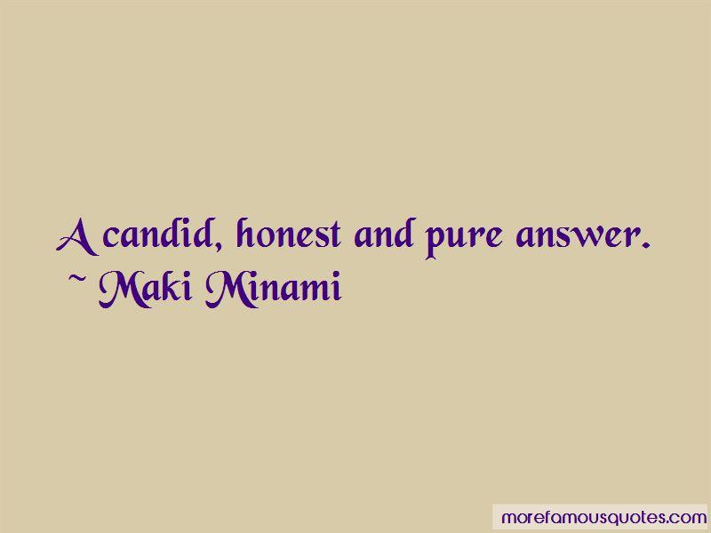 Maki Minami Quotes