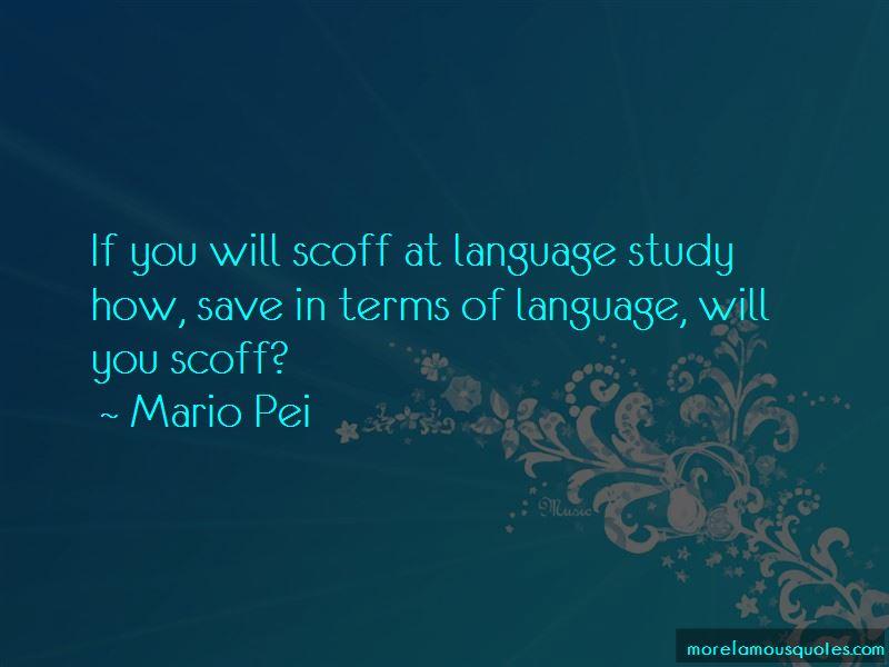 Mario Pei Quotes