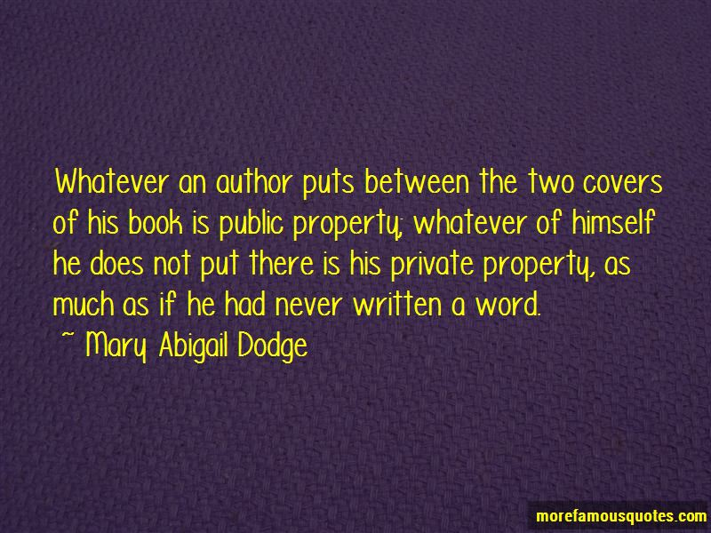 Mary Abigail Dodge Quotes Pictures 3