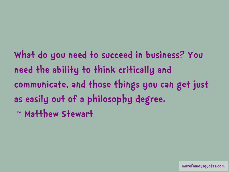 Matthew Stewart Quotes