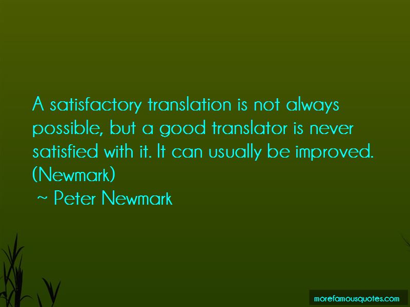 Peter Newmark Quotes
