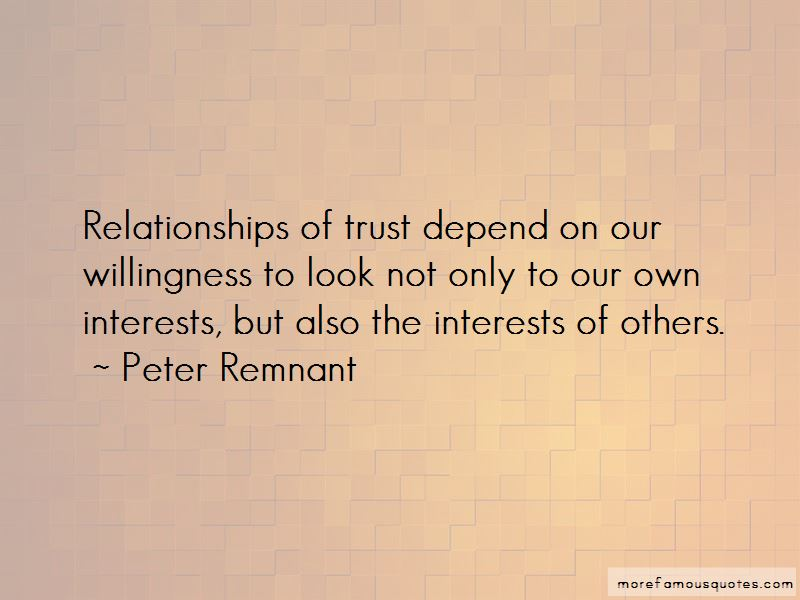 Peter Remnant Quotes
