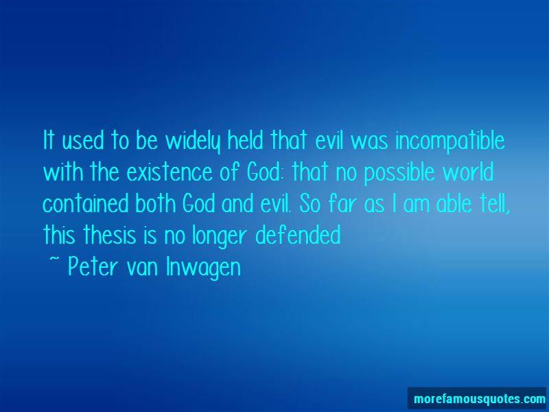 Peter Van Inwagen Quotes