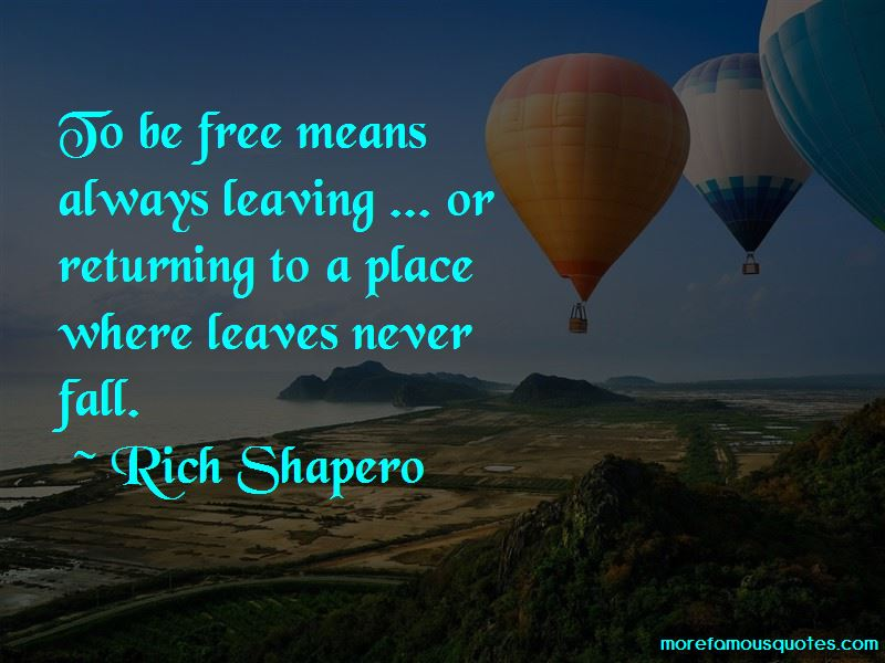 Rich Shapero Quotes