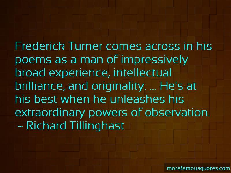 Richard Tillinghast Quotes